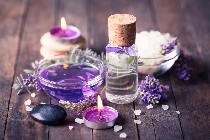 set of purple Aromatherapy items